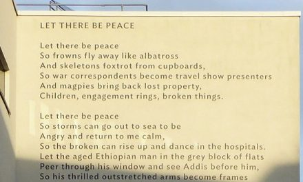 "Lemn Sissay, ""Let There Be Peace"": A Giant Landmark Poem"